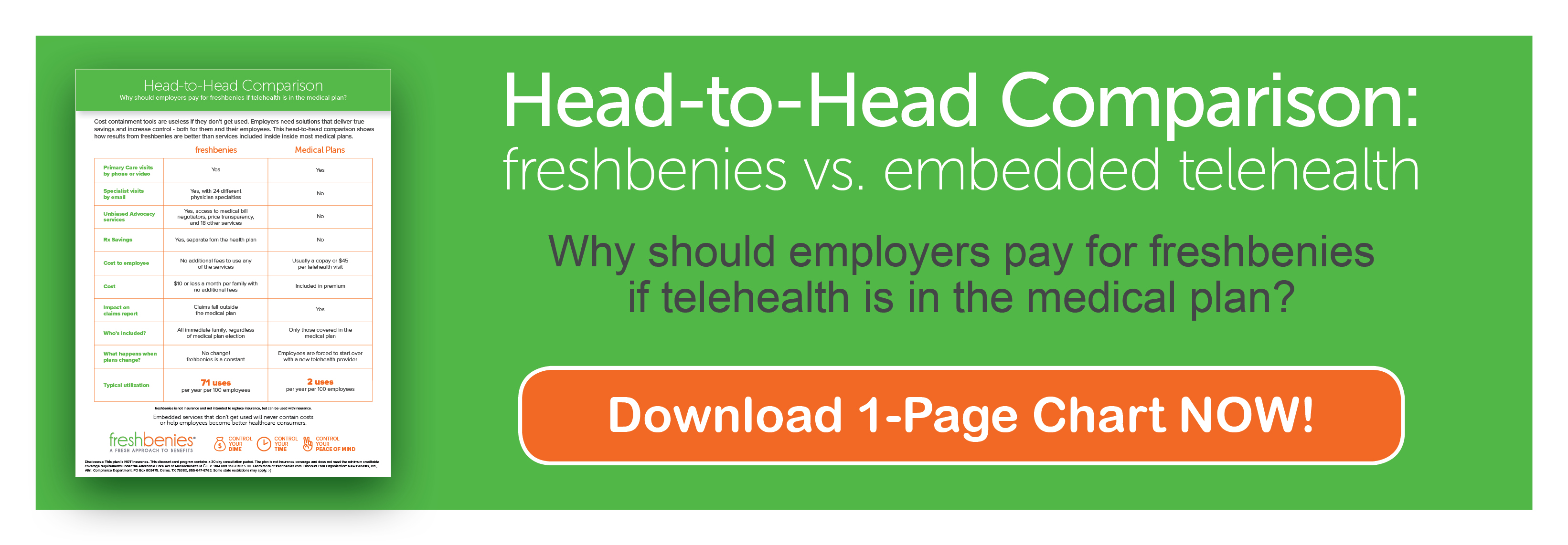 freshbenies vs. embedded telehealth